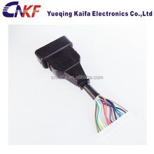 automotive wire harness 16 pin connector flat cable assembly