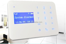 2wired and 10wiress zones wifi alarm system with elegant touch keypad and LCD display