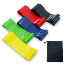 Multi Color Resistance Loop Bands Set of 5 Home Fitness Exercise Bands for Workout & Physical Therapy