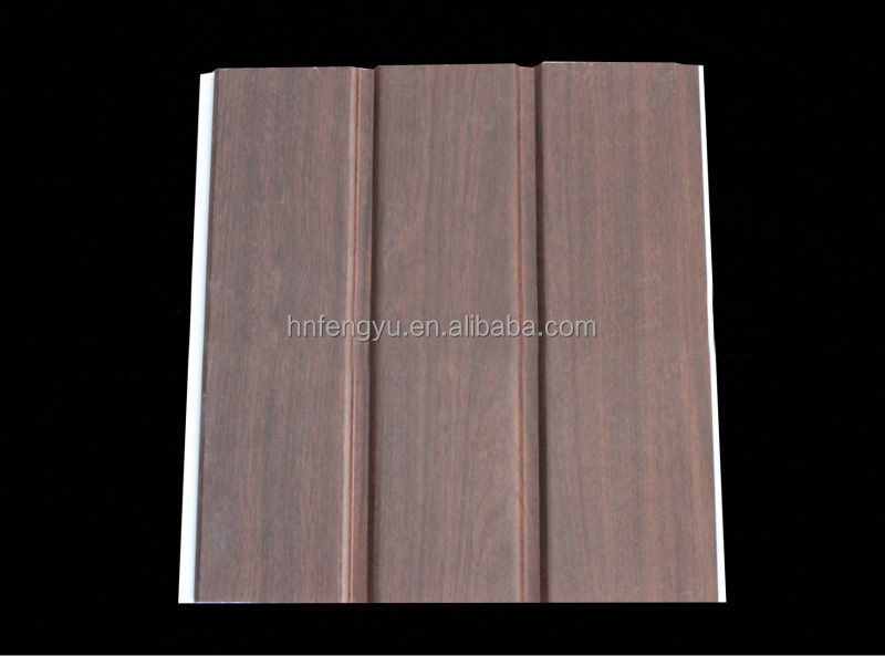 3D wood design 30cm laminated pvc wall panel from china manufacturer