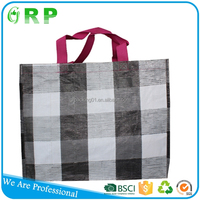 Newly design colorful printed pp woven collapsible shopping bag