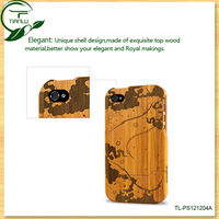2013 OEM Natural Wood Bamboo cases for iphone 4 4S 4g, Retail Packing & Fast Shipping
