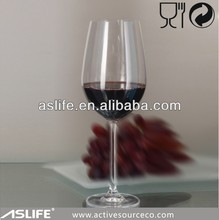 Drinking glassware 633ml large fluted pattern glass sheets for restaurant & bar/ thick stem red wine glass