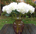 artificial white hydrangea flower for wedding NKS1006