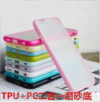 color TPU bumper + matte PC back cover Case Ultra Slim Soft Rubber Skin Cover for iphone 6s plus for iphone se for hongmi note3
