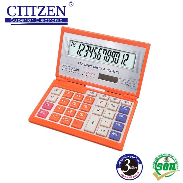 GTTTZEN colorful 12 Digits Solar Power Calculator CT-8855V