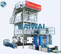 Heat Shrinkable Co-Extrusion Blown Film Extruder Line with Automatic Double Winder and IBC Cooling System