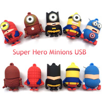 Ginado Special offer America Captain Superman Spiderman lovely cartoon USB Flash Drive pendrive memory sitck 4GB 8GB 16GB 32GB