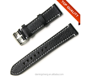 Top Quality Fashion Men Stitched leather watch strap