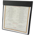 Synthetic Leather Single-panel Menu Covers with Magnetic Binding Fits 8.5x11 Sheets of Paper