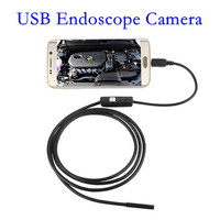 7mm Android Endoscope OTG Micro USB Endoscope Waterproof Borescopes Inspection Camera with 6 LED and 5M Cable