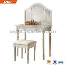 antique dressing table with delicate mirror and stool work dresses