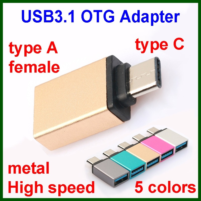 Mobile phone USB3.1 type C OTG adapter cable for notebook tablet macbook android mobile hard flash disk with package