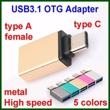 Mobile phone USB3.1 type C OTG adapter cable for notebook tablet android hard flash disk
