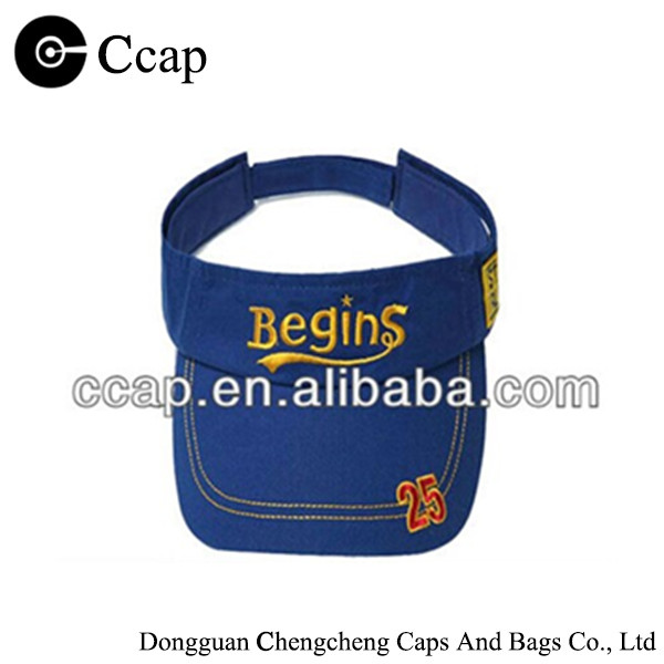 2015 Custom 100% cotton children sun visor cap with embroidery