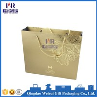 Custom Printed Logo High Quality Brown Kraft Paper Bag Wholesale