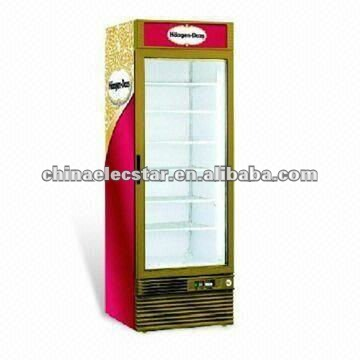 Upright Freezing Showcase, Single and Double Doors with 238/268/318/368L and 800/1,000L Volume
