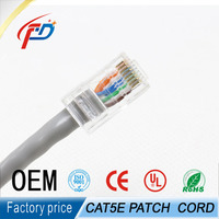 8 number of conductor Cat5e network patch cord rg45 plug patch cable