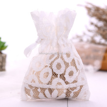 Wholesale jewelry gift packing lace bag mesh drawstring bag