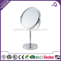 Metal Desktop mirror decoration sticker for makeup
