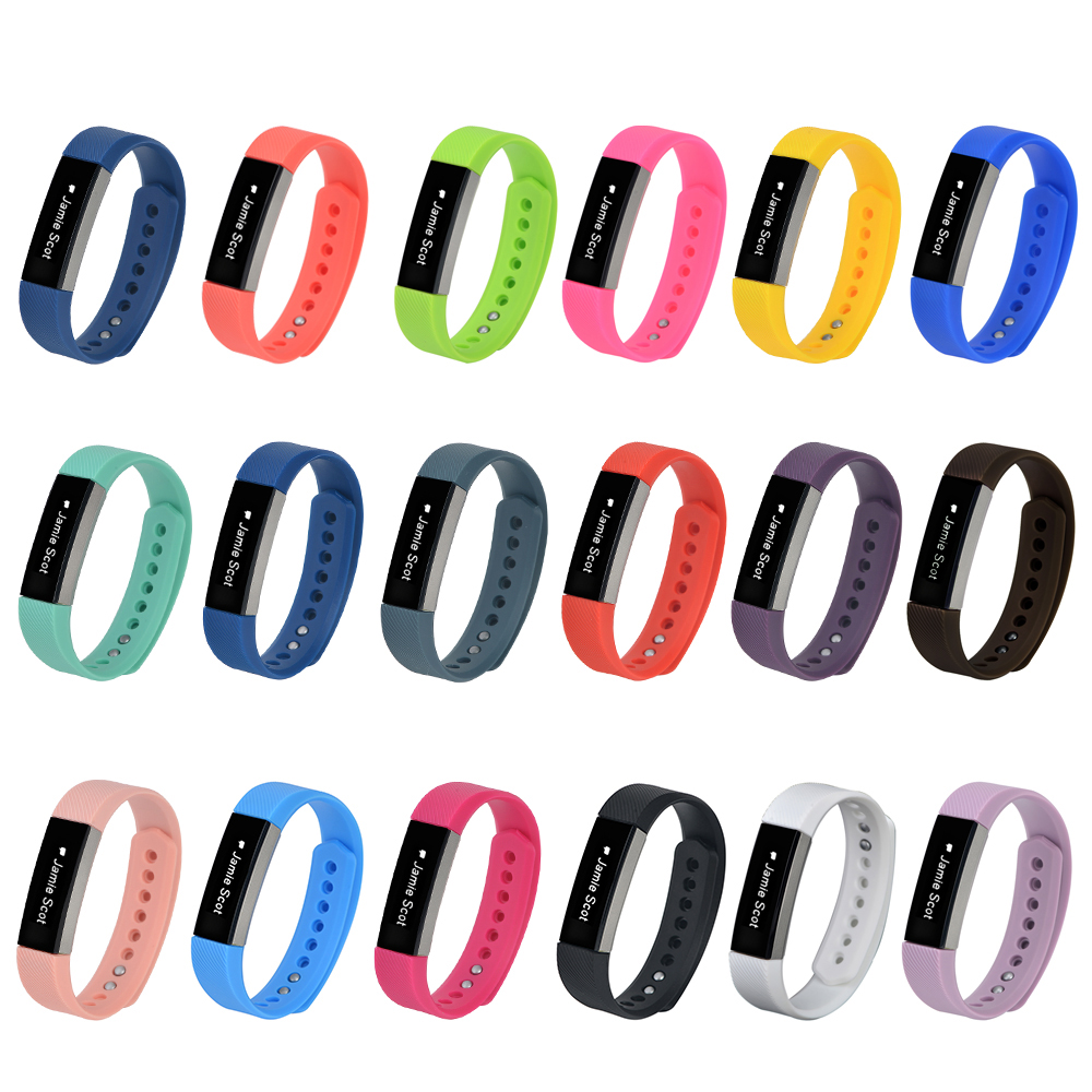 Soft Rubber/ Silicone wrist Watch Band Strap For fitbit Alta Band