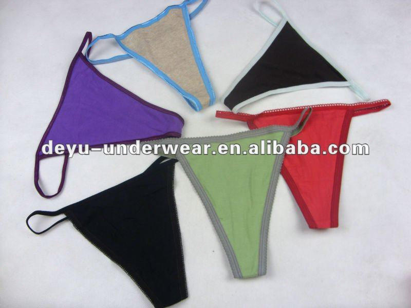 0.10USD No Defects Stock Cheap Cotton France Sexy Girls In G Strings, Thongs, Women G-string Underwear (kcnk023)