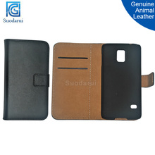 Wholesale cell phone case Slim Genuine animal leather Stand Wallet Flip cover case for Samsung Galaxy S5