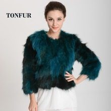 High Fashion New Real Raccoon Fur Coat Multi Colors Factory Fur Jacket