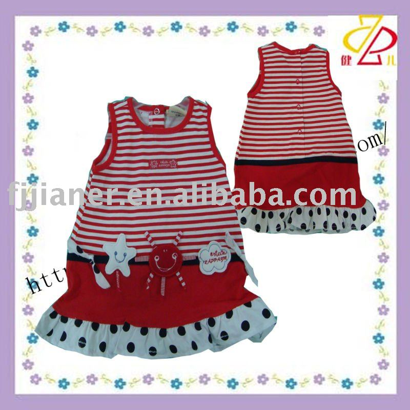 Summer cotton girl skirt , cut baby dress