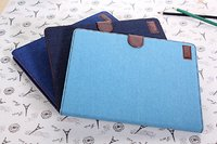Hot selling JEANS leather wallet flip case for Ipad 2,3,4