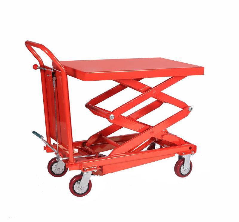 Portable Hydraulic Lift Cart : Kg capacity portable hydraulic scissor lift table cart