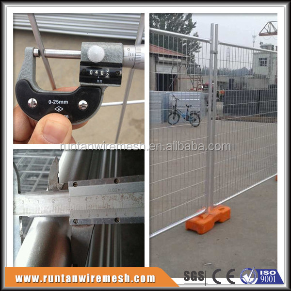 Construction site galvanized temporary removable portable fencing