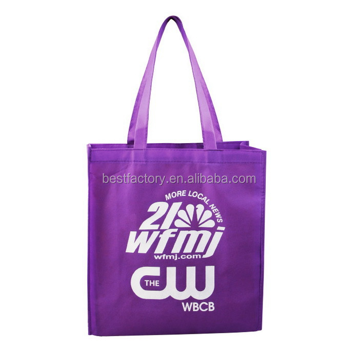 Full color printing folding up non-woven bag with zip, folding shopping tote bag, folding shopping trolley bag