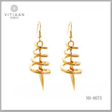 Gold plated fashion design gold ear tops designs