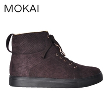 J001-MK55 Factory embossed leather shoes top quality hand made OEM.ODM shoes high cut sneakers