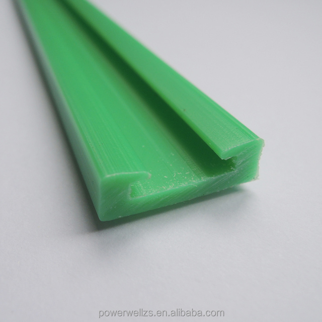 Custom Construction extrusion profile Green PE plastic profiles