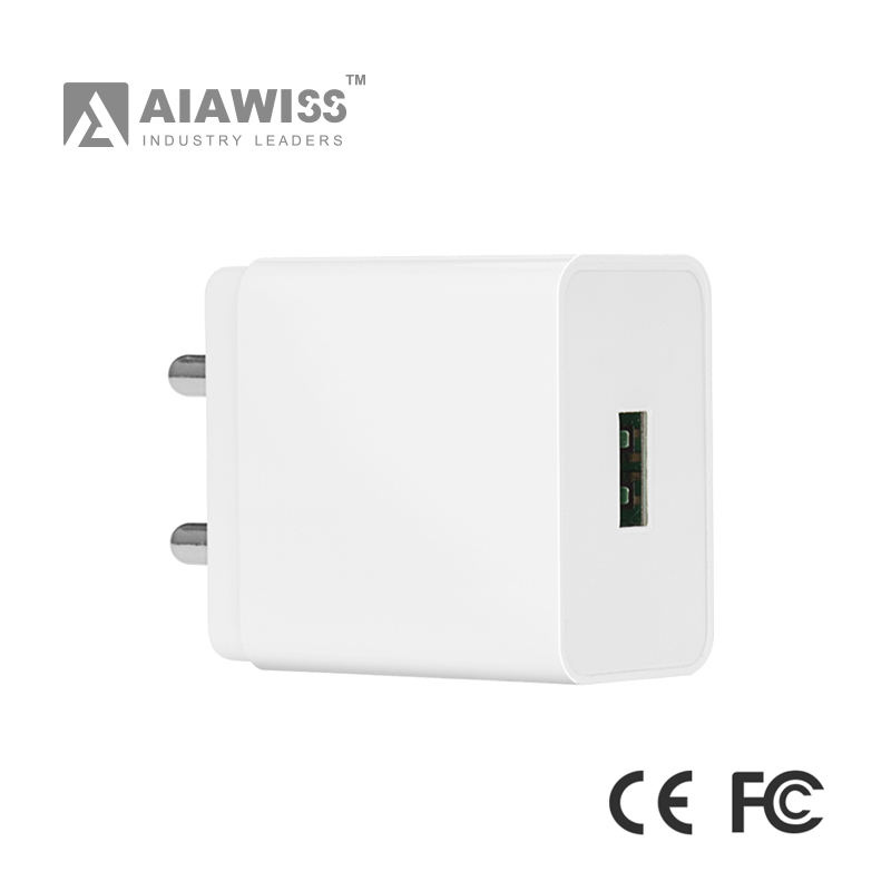 AIAWISS online shopping india 2017 OCP protected 5v 3A usb wall charger for vivo