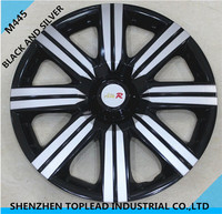 "12""13""14""15"" ABS/PP Bi-color Car Wheel Cover, Universal Hubcup Rim Skin Cover"