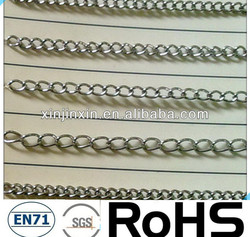 New Style stainless steel chain for dog,double loop cheap chain link for dog kennels,stainless steel dog chain