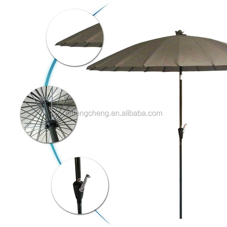 220cm*24ribs 2016 new inventions japanese market patio umbrella