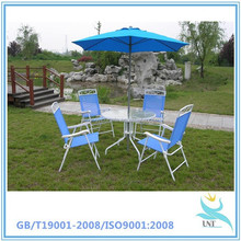 6 Piece Santorini Garden and Patio Set - New 2014 Model, Now With 100% Aluminium Framework-6 x Multi Position Recliner Chairs-Ta