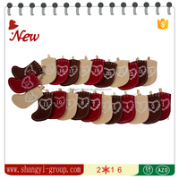 (XM13-01) Home Decoration Christmas Party Felt Advent Calendar With 24 Stockings