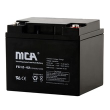 12V 42Ah Rechargeable UPS AGM Gel Power Lead-Acid Battery Electric solar
