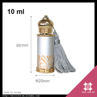 Millenium silver gold swiss arabian perfume essence fragrance bottle