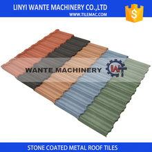 WANTE Metal Roof 50-Year Warranty Low Cost Cheap Colorful Stone Coated Corrugated Light weight Roof Tile