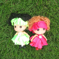 cute girl doll/plastic girl doll/cute doll keychain mini doll