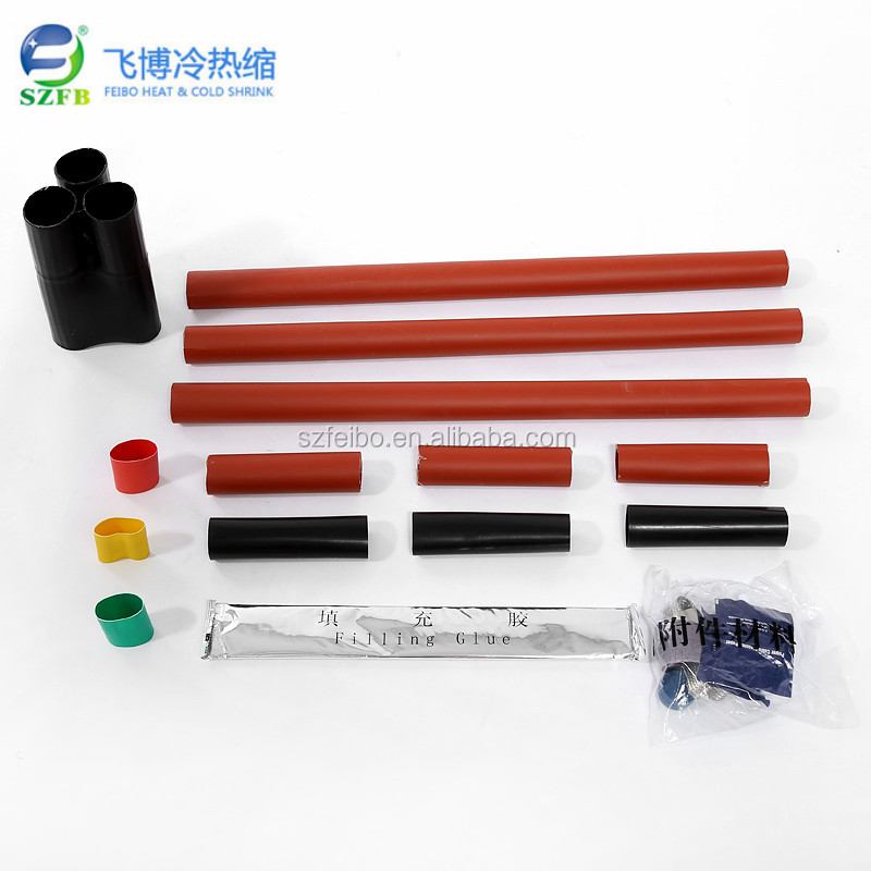 Customized International Standard Heat shrinkable cable accessories Thermal terminal