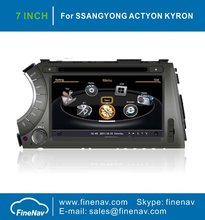 "A8 Chipset 3G WiFi HD 1080P 7"" Car DVD Player For SSANGYONG ACTYON KYRON With GPS Radio Bluetooth 1G CPU Free Map"
