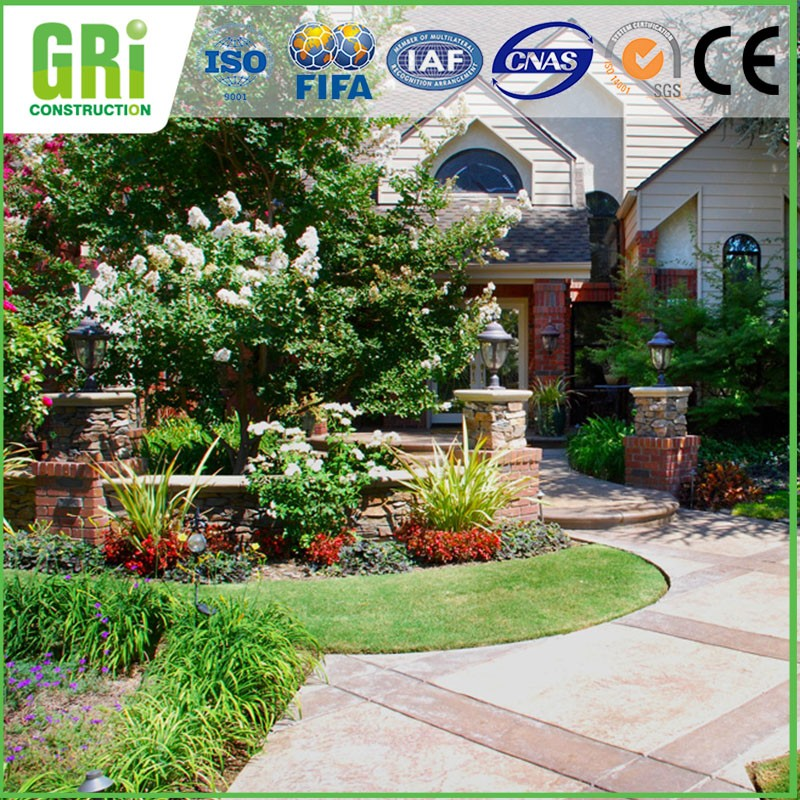 Evergreen Synthetic Grass For Landscape Garden