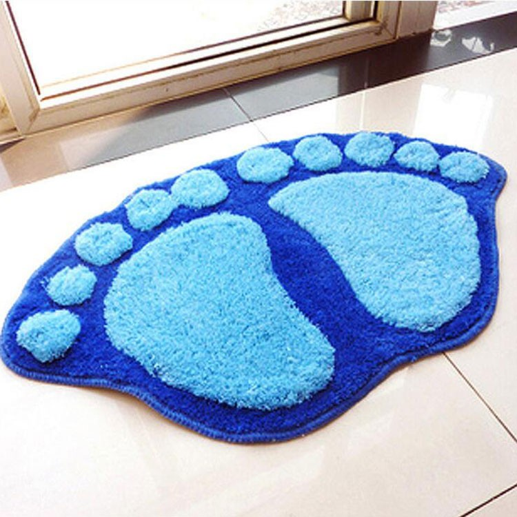 Sitting room bedroom bathroom door mat bibulous microfiber chenille microfiber super magic cheap soft lovely big foot carpet